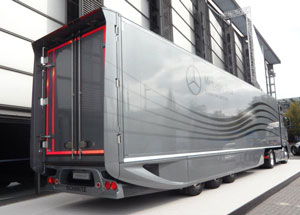 Aero improvers on this Schmitz reefer trailer cut wind drag by 18% and improve fuel economy by 4.5%, says Daimler Trucks, whose research went into the design. It's on display this week and next at the IAA show in Hanover, Germany.