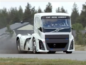 Volvo's Iron Knight Truck Sets New Speed Record