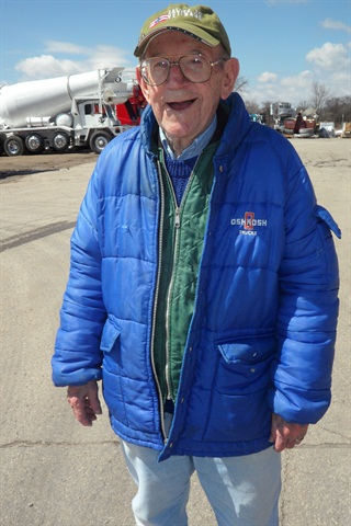 Clarence Jungwirth will be 95 in October, and has worked at Oshkosh