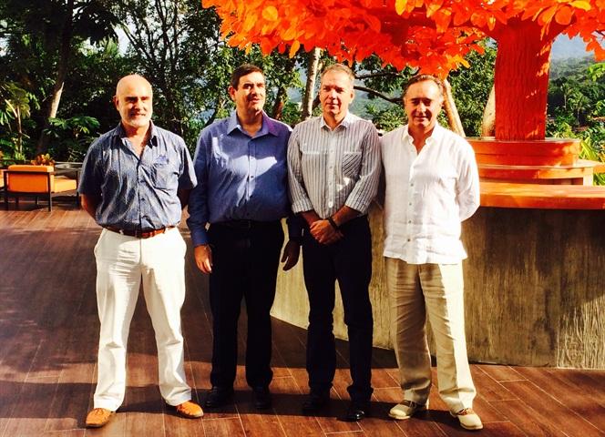 Ramón Medrano, Alex Thiessen, Stefan Kürschner and Miguel
