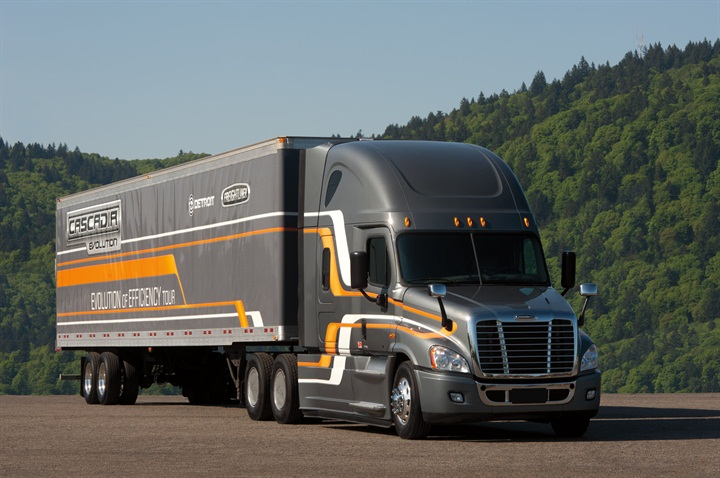 The Freightliner Cascadia Evolution uses small component and part