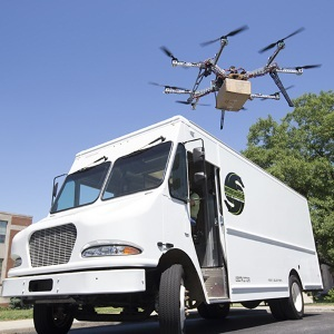 AMP Electric Vehicles  delivery-van-based drone concept may be more