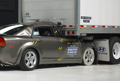 When the Insurance Institute for Highway Safety tested underride