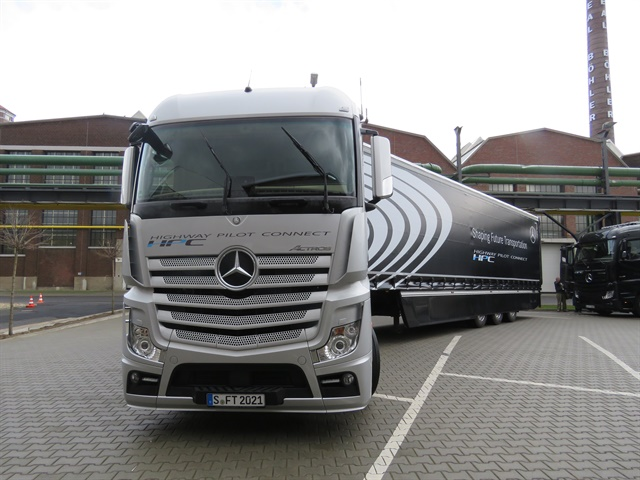 Mercedes Benz Actros cabover fitted with Daimler AG's Highway