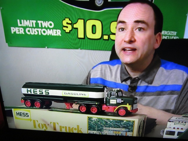 Michael Roberto and a Hess Toy Truck -- a tanker.