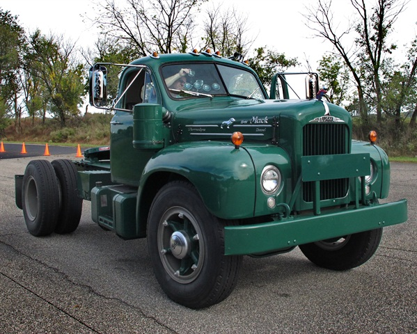 Mack s 1957 B61 can be seen at the Customer Center in Allentown, Penn.