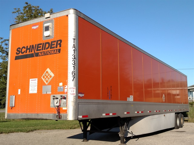 Because of the tracking device on its nose, Schneider dispatchers can