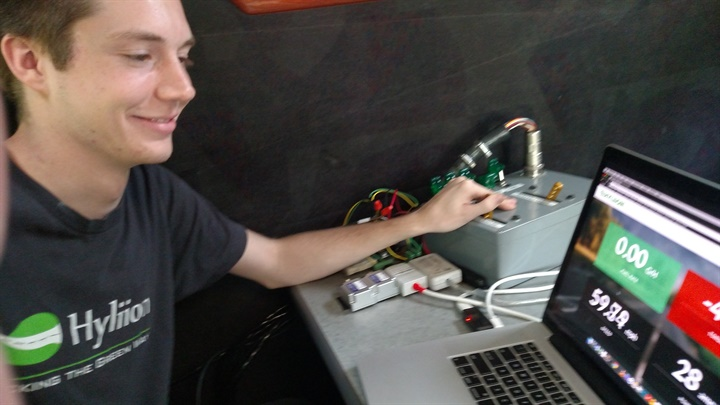 Hyliion engineer Morgan Culbertson, who wrote the control program,
