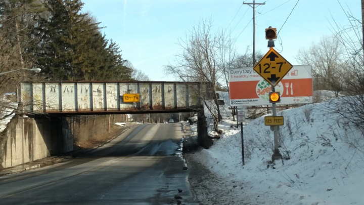 Numerous signs on West Central Avenue (SR 37) in Delaware warn of this