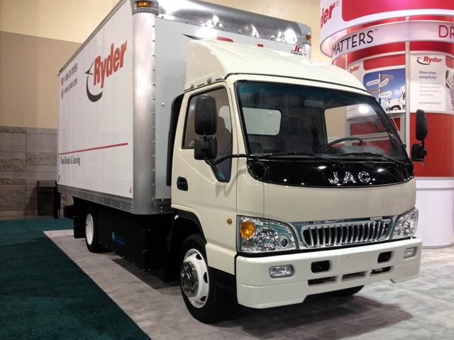 Despite the Chinese cab, this purpose-built CNG truck is assembled in