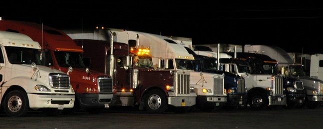 In many areas, truckers are short of places to park at night. Photo by