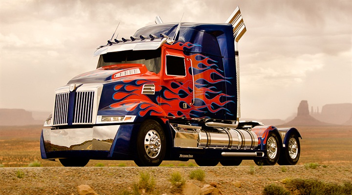 This next-generation custom-build Western Star is starring as Optimus