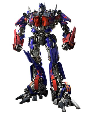 The live action incarnation of Optimus Prime in the 2007 film