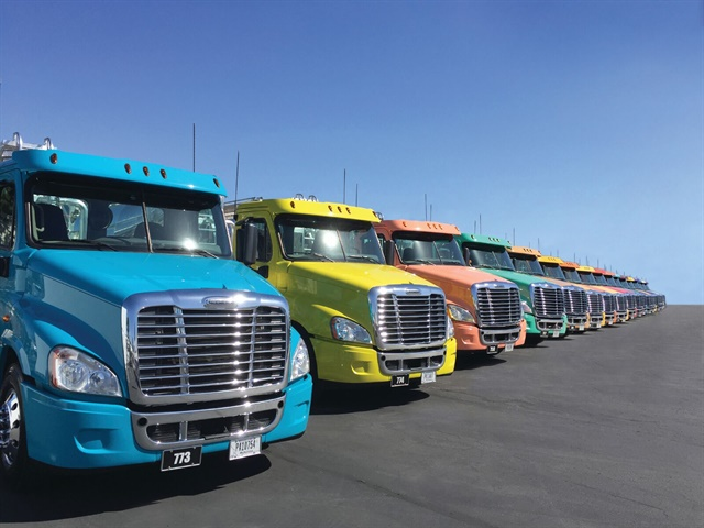 Plastic Express s fleet is so colorful it s been nicknamed the  jelly