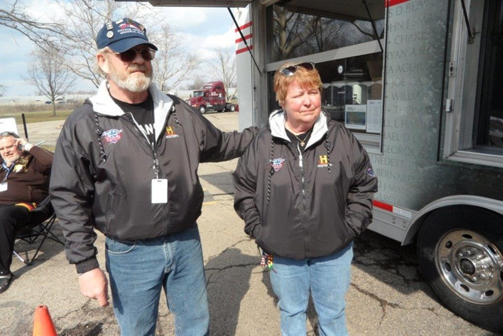 Bob & Brenda Dobek will drive their KW T600B and the display