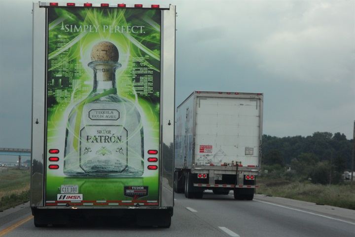 Don t the graphics on that clean trailer make you want to sip a bit of