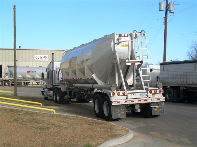 Special fracking sand is just one of the items transported by truck