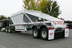 American Carrier Equipment s all-steel, tandem axle, semi bottom dump