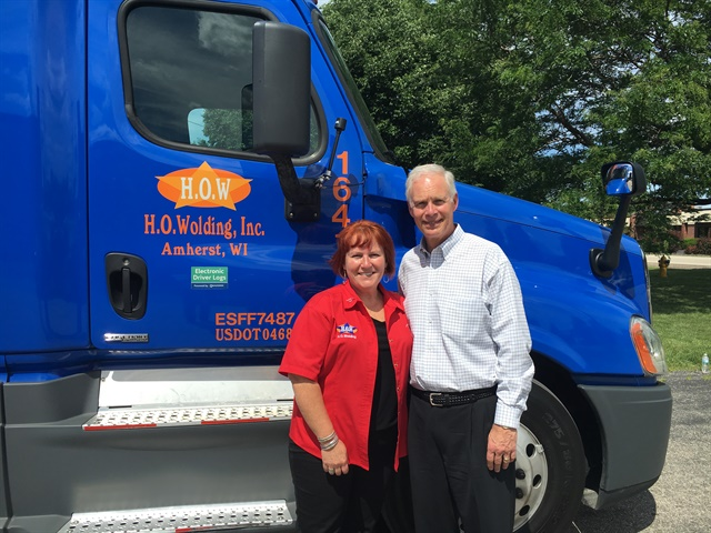 Sen. Ron Johnson got a glimpse of life on the road with Julie Matulle.