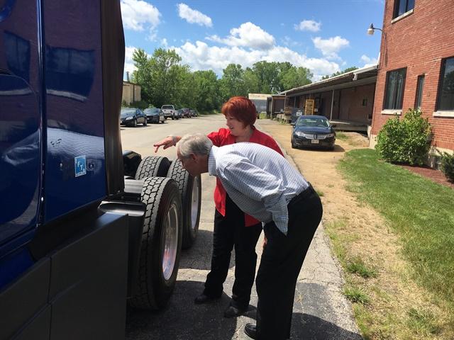 The senator experiences a pre-trip inspection. Photo courtesy Women in