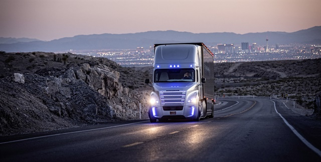Autonomous truck technology like that in Freightliner's Inspiration Truck is part of a sweeping wave of technology. Photo courtesy of Freightliner
