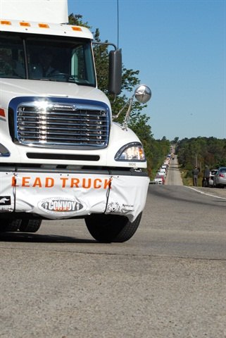 Lead truck honors usually go to the driver that brings in the most pledges and sponsorships. That competition leads to some incredible generosity. Photo by Jim Park