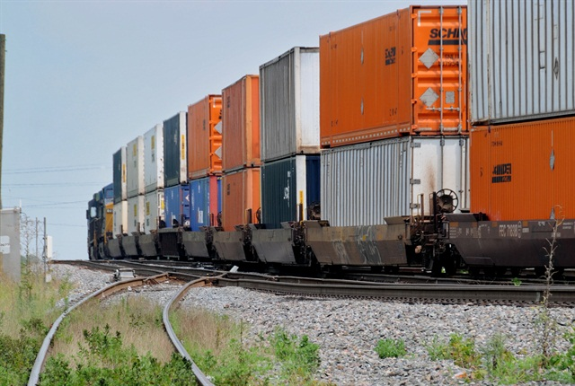 Do lower fuel prices offer an opportunity to get some business back from rail? Photo by Jim Park.