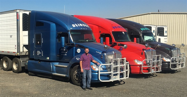 """Every fifth truck comes in a different color, and if you had all our trucks lined up, you'd see a sea of colors,"" says Matt Blinsky of Washington-based Floyd Blinsky Trucking. Photo: Kenworth"