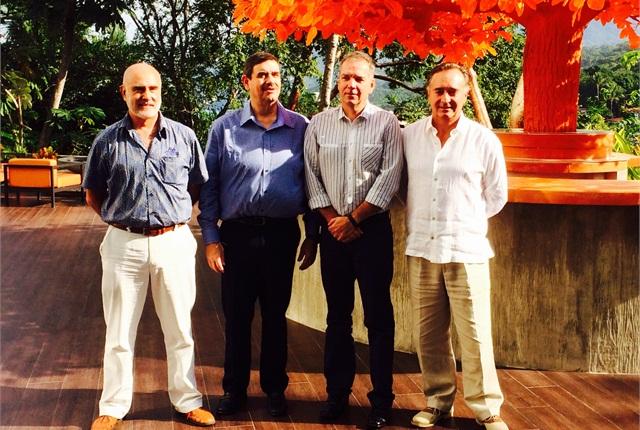 Ramón Medrano, Alex Thiessen, Stefan Kürschner and Miguel Gómez, in Puerto Vallarta, Mexico. Photo: David Cullen