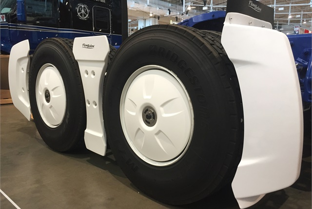 AeroFender is the fairing just ahead of this tandem. The center and rear pieces are enhanced versions of those on the company's original Tractor AeroKit.