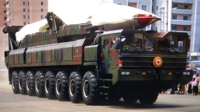 North Koreans converted Wanshan 16x12 trucks to missile erector-launchers, reports say. Powertrains include Cummins KTTA-700 and ZF automatic transmissions.