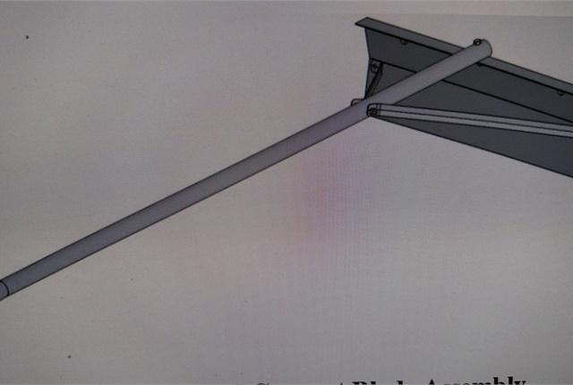 Truck Trailer Scraper begins with a blade and handle assembly that resembles a roof rake. Photo: Mazen Shteiwi