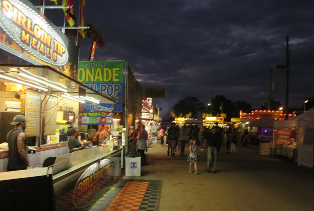 Food concessions on the Delaware County Fair's midway are all on wheels. Sirloin tip meals were pretty good. Photos: Tom Berg