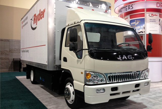 Despite the Chinese cab, this purpose-built CNG truck is assembled in Southern California out of 70% U.S.-sourced components.