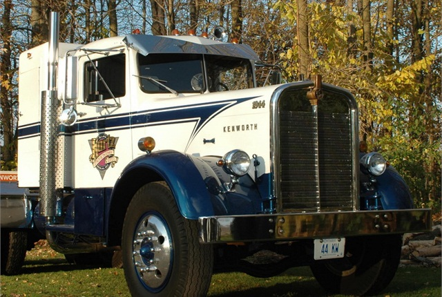 Not a working part of the Brian Kurtz fleet, this splendid 1944 Kenworth was restored in-house, and regularly appears at local truck shows.
