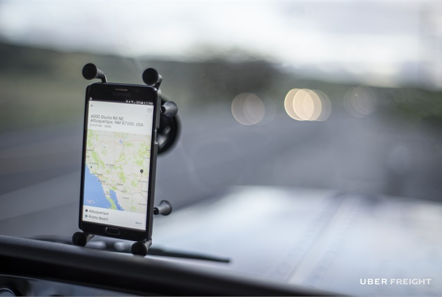 Uber Freight is a new service and app that allows owner-operators to bypass traditional freight brokers and locate and contract loads for themselves. Photo: Uber Freight