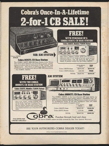 A print ad from the height of the CB radio craze. Photo courtesy RoadPro Family of Brands