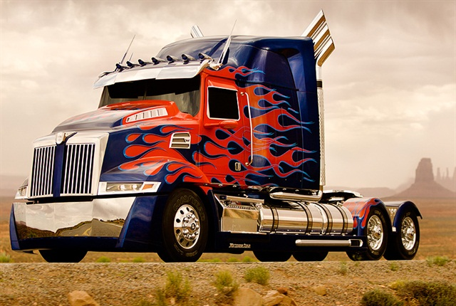 This next-generation custom-build Western Star is starring as Optimus Prime in the upcoming Transformers movie.