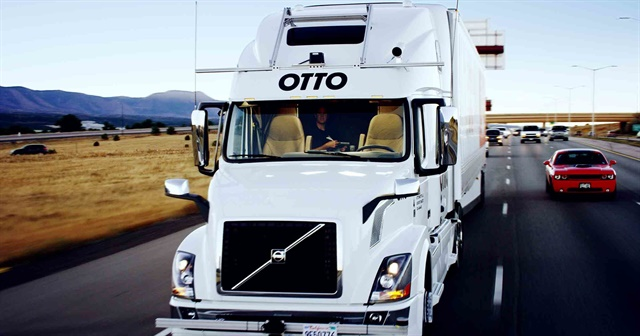 Autonomous trucks have helped spur an emerging conversation on just how far robots can go in taking human jobs and the consequences those lost jobs means for society as a whole. Photo credit: Otto