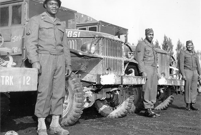 The Red Ball Express kept Allied troops supplied with food, ammunition and other vital supplies, and helped hasten the fall of Nazi Germany. Photo: U.S. Army