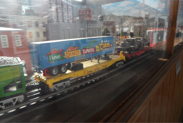 Piggyback is part of the O-gauge model railroad's operation.