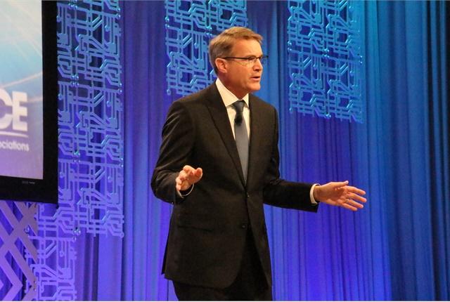 Chris Spear addresses ATA MC&E as its president and CEO. Photo: Evan Lockridge