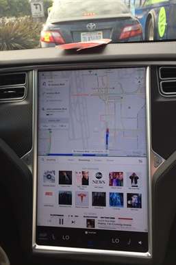 What does the Tesla Model S display tell us about truck interiors of the future? Photo: Jack Roberts