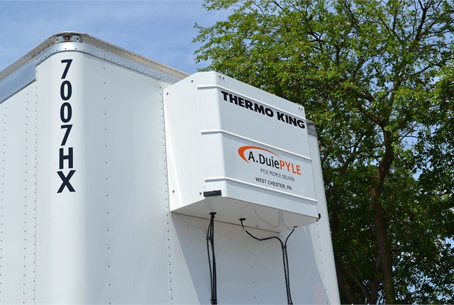 Thermo King heaters blow warm air into trailers, whose noses and walls have foam insulation.