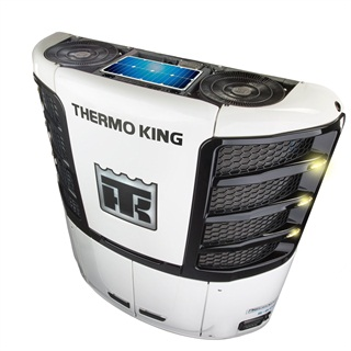 A single 26-watt panel is the smallest one, but two larger panels are available to generate addiational wattage, hermo King says. Photo: Thermo King
