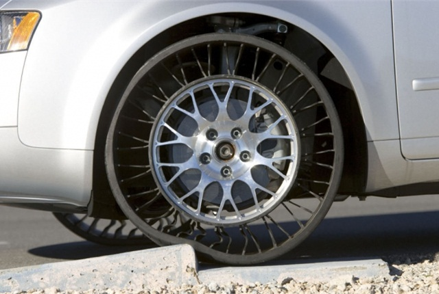 Tires that don't go flat would save hours of downtime.