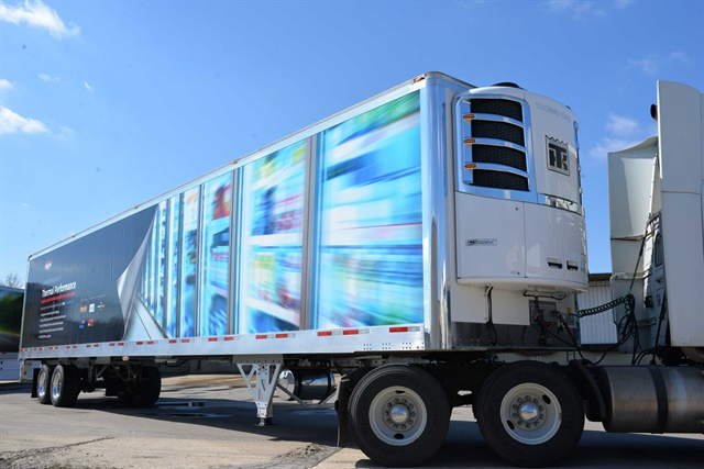 Wabash National's MSC reefer trailer will go into initial production in next year's first quarter. Four fleets will test them in everyday service. Photo: Wabash National
