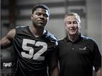 Oakland Raiders defensive end Khalil Mack signed a sponsorship