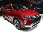 The 2018 Mitsubishi Eclipse Cross, among many new entrants in small SUV segment, debuted at the LA Auto Show in November. (Photo by Paul Lim.)