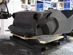 A vehicle in the process of being printed. Photo courtesy of AutoDesk via Business Wire